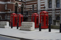 Concrete seats and red phone boxes (IanAWood) Tags: urban cityscapes centrallondon walkingwithmynikon nikondf nikkorafs58mmf14g