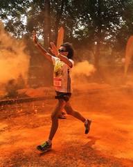 Stronger (polinaglebova) Tags: summer orange sun color colors sport festival wow moscow marathon running run jogging holi       42km        colormarathon