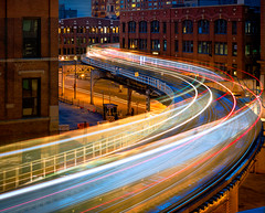 Turn the Page (The New No. 2) Tags: johncrouch copyright2016johncrouch johncrouchphotography architecture blue building chicago city cityscape color commute cta curve dark downtown dusk el elevated evening exterior fast glow horizontal il illinois illuminated l life light lights line loop midwest motion movement night outdoors passenger rivernorth scene skyline speed structure track tracks trail trails train transport transportation travel twilight urban usa