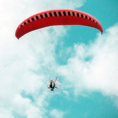 Over the Cuckoo's nest (andrey.senov) Tags: paraglider sky clouds air flight      square 1x1 11 35faves