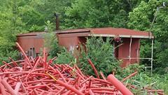 Poplar Bluff, Missouri (1 of 2) (Bob McGilvray Jr.) Tags: poplarbluff missouri mo mopac mp missouripacific caboose steel red cupola scrapyard railroad train tracks