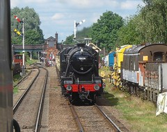 Great Central Railway Quorn Leicestershire 27th July 2016 (loose_grip_99) Tags: greatcentral railway railroad rail steam train engine locomotive leicestershire greatwestern gwr modified hall 460 6990 witherslackhall witherslack preservation transportation gassteam uksteam trains railways july 2016 quorn stanier 8f 280 48624