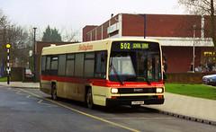 Hedingham J724KBC Haverhill February 2001 (The original SimonB) Tags: 2001 film buses transport scanned february haverhill hedingham
