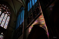 Kölner Dom (Kym.) Tags: light church germany day colours cathedral dom cologne stainedglass köln withluz