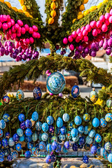 Lauf Easter well (AndiZ275) Tags: old holiday pope bunny art water rural wonderful germany easter francis pull bavaria spring ancient paint european village symbol outdoor painted traditional religion jesus rustic birth egg decoration franconia christian well blessing colored ritual christianity tradition ornate fertility rite ratzinger pagan customs benedict lauf masterwork