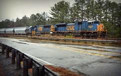 It's obvious (builder24car) Tags: rain csx petersburgvirginia railfanning sd60 sd70ace csx4848 benchingthefreights csx8710