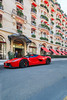 The come back. (Nino - www.thelittlespotters.fr) Tags: plaza blue red white paris france cars beautiful amazing rich ferrari arab bugatti luxury rare supercar veyron ksa athénée orblanc laferrari