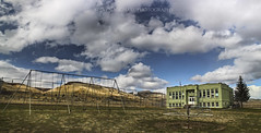 Antelope School (Steven Michael Photography) Tags: abandoned clouds oregon centraloregon pacificnorthwest ghosttown abandonedbuildings abandonedschool antelopeoregon oregonghosttown stevenmichaelphotography