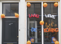 """Long live the King"" (schultze.stephanie) Tags: orange window netherlands balloons utrecht king kingsday"