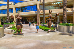 Warner Brothers Studio VIP Tour, August 28, 2014 (If you didn't film it, it didn't happen!) Tags: california camera building statue outdoor photograph daffyduck bugsbunny 2014 losangelescounty warnerbrothersstudios takeyourdaughtertoworkday tabithamiller