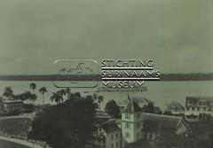 Uitzicht op Surinamerivier met stoomschip