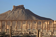 Ancient City Landscapes of Palmyra The UNESCO World Heritage Site Syria Middle East (eriagn) Tags: travel castle history tourism archaeology photography ancienthistory ruins desert tomb middleeast unescoworldheritagesite oasis syria silkroad historical restoration blocks monuments crossroads ancientcivilization damascus sculptures palmyra romanempire syrian dwellings grecoroman ancientworld archaeologicalsite tadmor ancientcity  funerarytowers funerarytower palmayra persianinfluence ancienttraderoutes eriagn ngairelawson ngairehart ancientcaravans castlepalmyra citadelm
