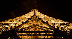 Eiffeltower at night (jonathan gaier) Tags: light paris france night dark de lights frankreich tour eiffeltower eiffel eiffelturm