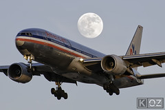 'Full Moon/Bare Metal' (ChicagoKoz (ORDSpotter) @Kozphotog) Tags: travel sunset vacation moon chicago airplane airport nikon aircraft aviation flight jet business american transportation boeing heavy americanairlines ord 777 pilot aa airliner aal jetliner planespotting commercialflight b777 kord 777200 aacom commercialairliner planespotter avgeek commercialairline aircraftlanding airportoperations o'hareinternationalairport o'hare 777223 aviationindustry aviationspotting aviationspotter chicagokoz kevinkoske oneworldmember o'harefield airlinerbusiness fly2ord flyord