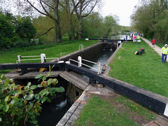 Lock on Kennet and Avon Canal between Kintbury and Newbury (Daves Portfolio) Tags: canal lock avon kennet kennetavoncanal kintbury