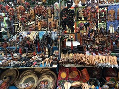 Spoilt for choice ! (abbietabbie) Tags: southafrica souvenirs market crafts capetown colourful stalls photostream greenmarketsquare