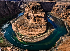 Boat at Horseshoe Bend (My Friends & Family.) Tags: sunset coloradoriver horseshoebend pageaz