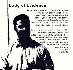 Educational Postcard: Body of Evidence (Ken Whytock) Tags: school students student healthy order body year formal progress best created teachers evidence documentation conversations demonstrations doctors collect carefully observations errors serve unfair informal punitive scutinized relapses setbakcs anomallies