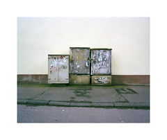 utility objects (ha*voc) Tags: street urban film mediumformat rangefinder 6x7 trier 220 urbanfragments 65mm fujinps160 mamiya7ii urbandetails