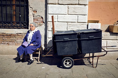 thinking about... (f/.M) Tags: venice people italy person one candid streetphotography fujifilm venezia rialto proneghi x100t