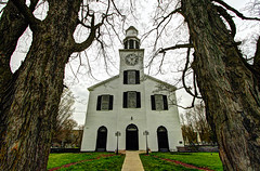 Delphi Falls United Church (Matt Champlin) Tags: new york old trees history church canon village god foreboding structure cny upstatenewyork historical quaint 2016