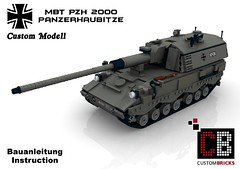 LEGO Custom MBT Panzerhaubitze PZH 2000 BA2 (LA-Design2012) Tags: modern sticker tank lego battle custom combat mbt decals instruction panzer bundeswehr mw moc warfare bauanleitung kampfpanzer custombricks