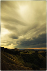 Nor-West Cloud over Otago Peninsula (five15design) Tags: autumn newzealand storm fall harbour southisland dunedin aotearoa mainland thefall latesummer otagoharbour nikonnz