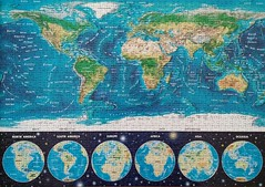 Neon World Map (sci-fi-fan) Tags: puzzle fluorescent educa weltkarte