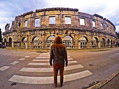 Back View. Pula,Croatia (Alexandr Tikki) Tags: world life street new city trip travel original light wild sky people house holiday man art classic love me beauty architecture wow wonder happy idea amazing fantastic perfect europe moments view place time outdoor top awesome great creative croatia best journey hero imagine concept moment inspire past impressive backview pula tikki gopro abbadoned goprohero4 alexandrtikki leveltravel