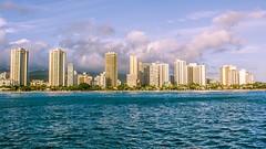 Waikiki Beach from Na Hoku II (Oliver Leveritt) Tags: cruise skyline buildings hawaii boat waikiki oahu shoreline kitlens coastline honolulu waikikibeach nahokuii afsdxnikkor1855mmf3556gvr oliverleverittphotography nahoku2 nikond7100