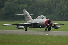PZL-Mielec SBLim-2 (MiG-15UTI) (Nick Collins Photography, Thanks for 1.8+m views) Tags: cold norway canon flying war russia aircraft aviation military norwegian airshow 18 russian 500mm dunsfold mig15uti mikoyangurevich sblim2 pzlmielec 7dmk2 n104jc