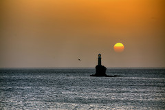 Andros Sunrise (hapulcu) Tags: lighthouse sunrise spring aegean greece grecia griechenland andros cyclades grece kiklades