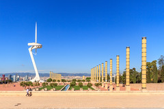 Olympic site in Barcelona (The photo hunter II) Tags: barcelona espagne fontaine