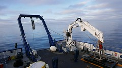 Calm waters as the EV Nautilus readies to begin another day of ocean exploration (Ocean Networks Canada) Tags: ocean sunrise deck nautilus wiringtheabyss2016 abyss16