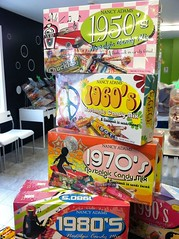 Decades Candy Display (cupcakes101nh) Tags: candy sweet sugar variety decade oldtime vintage