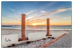 Tramonto sul Golfo (Giuseppe Tripodi) Tags: italy beach landscape italia tramonto lungomare calabria spiaggia paesaggio sunse gioiatauro estate2016