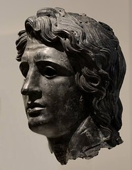 Head of Alexander the Great. Bronze. Greek or Roman. Late Hellenistic to Hadrianic, ca. 150 BC - AD 138. (mike catalonian) Tags: sculpture bronze head ancientgreece ancientrome alexanderthegreat