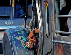 Change (Luzon Jim) Tags: road hand notes outdoor philippines transport vehicle jeepney nikond5100