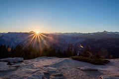 Sentinel Dome, Yosemite (Day 5) (Max Goldberg) Tags: california park summer sun hot sunrise star national yosemite dome burst sentinel