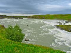 Urriðafoss í Þjórsá (skolavellir12) Tags: water river island waterfall iceland þjórsá urriðafoss