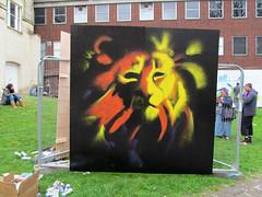 RENE:GADE FESTIVAL 2015 (pefkosmad) Tags: streetart art festival bar graffiti pub inn forsale gloucestershire gloucester publicart aerosol cellar renegade spraycan publichouse caferene