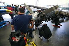 Powerplant (Kevin_Barrett) Tags: airplane sony hangar alpha beechcraft beech ssc pz boeingfield oss nex lycoming queenair a6000 sel1650 io720 southseattlecollege