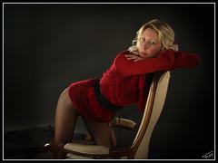 Emlie 09 (Fr-EM (photos de Modles)) Tags: red portrait woman black girl canon studio rouge eos photo model glamour women noir photographie femme picture lingerie sensual blond blonde boudoir 37 tours fille rougeetnoir redblack modle indreetloire frem fminit 550d photographetours photographe37