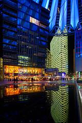 Sony Center Reflection . (jo.misere) Tags: color reflection berlin db sonycenter potsdam berlijn kleur reflectie 1414780