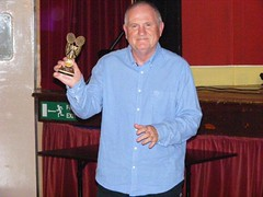 Ray Schofield collecting his Long Service Award