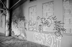 Estacin de guaguas de La Laguna (inma F) Tags: calle edificios urbandecay edificio estacion pintada lalaguna quemado