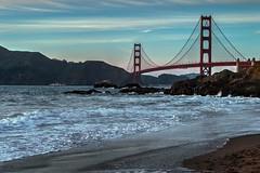 Golden Gate sunset. (corybeatty) Tags: ocean california bridge sunset sea beach water beautiful landscape golden gate san francisco outdoor hdr