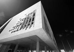 Malta Parliament (albireo 2006) Tags: blackandwhite bw architecture blackwhite malta pb nb bn renzopiano modernarchitecture valletta blackandwhitephotos blackwhitephotos maltaparliament malteseparliament valletta2018