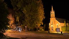 Bright night scene (Ralph Green) Tags: longexposure night bright australia victoria unitingchurch irelandstreet