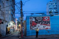 Copa do mundo (tincho.uy) Tags: city blue sunset brazil art brasil riodejaneiro poste nikon arte grafiti cables electricity plug urbano electricidad mundial mundo copa mondo lapa 2014 conect d7100